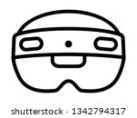 mixed and augmented reality... | Shutterstock .eps vector #1342794317
