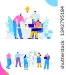 brainstorming creative team... | Shutterstock .eps vector #1342795184