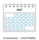 may calendar line icon.... | Shutterstock .eps vector #1342796801