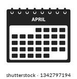 april calendar icon. flat style ... | Shutterstock .eps vector #1342797194
