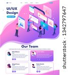 isometric website template...