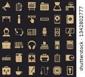 work space icons set. simple...   Shutterstock .eps vector #1342802777