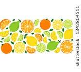 cute citrus fruits lemon  lime... | Shutterstock .eps vector #1342804511