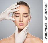 skin check before plastic... | Shutterstock . vector #1342805231