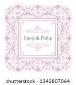 vintage wedding invitation... | Shutterstock .eps vector #1342807064