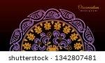 vintage luxury decorative... | Shutterstock .eps vector #1342807481
