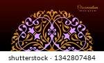 vintage luxury decorative... | Shutterstock .eps vector #1342807484
