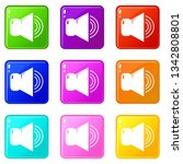 volume up icons set 9 color...   Shutterstock .eps vector #1342808801