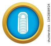sleeping bag icon blue vector... | Shutterstock .eps vector #1342808924
