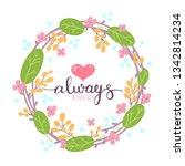 romantic love card. fantasy... | Shutterstock .eps vector #1342814234
