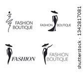 set of vector logo design... | Shutterstock .eps vector #1342817081
