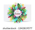 summer vibes poster design... | Shutterstock .eps vector #1342819577