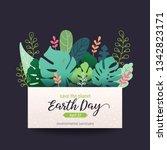 earth day banner  card design... | Shutterstock .eps vector #1342823171