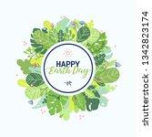 earth day banner design... | Shutterstock .eps vector #1342823174