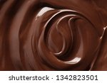 sweet melted chocolate  closeup | Shutterstock . vector #1342823501