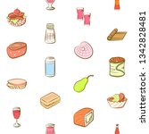 food images. background for... | Shutterstock .eps vector #1342828481