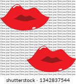 Glossy Red Lips On I Love You...