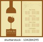 wine list design for bar ...   Shutterstock .eps vector #134284295