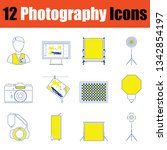 photography icon set. thin line ...