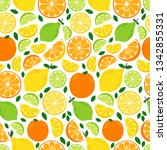 cute seamless pattern with... | Shutterstock .eps vector #1342855331