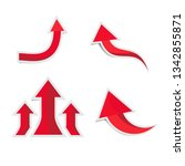 red arrows paper with shadow   Shutterstock .eps vector #1342855871