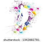 soccer player kicks the ball of ...   Shutterstock .eps vector #1342882781
