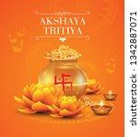 akshaya tritiya festival... | Shutterstock .eps vector #1342887071