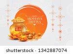 indian religious festival...   Shutterstock .eps vector #1342887074