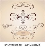 vector set  calligraphic design ... | Shutterstock .eps vector #134288825
