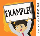 writing note showing example.... | Shutterstock . vector #1342891181