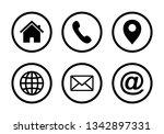 website icon  web icon set ... | Shutterstock .eps vector #1342897331