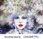 fashion woman. hand painted... | Shutterstock . vector #134289791