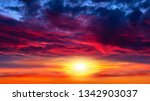 bright sunrise  . light about... | Shutterstock . vector #1342903037