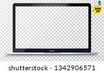 laptop in apple macbook pro... | Shutterstock .eps vector #1342906571