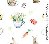 easter hand drown pattern    Shutterstock . vector #1342917227
