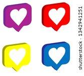 3d heart like social network....