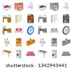 furniture and interior cartoon... | Shutterstock .eps vector #1342943441