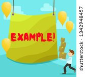 text sign showing example.... | Shutterstock . vector #1342948457