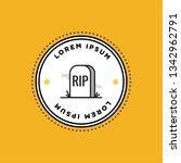 rip tombstone badge sticker... | Shutterstock .eps vector #1342962791