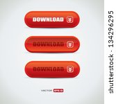 red download buttons with... | Shutterstock .eps vector #134296295
