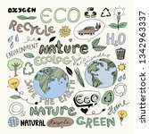 eco recycle reuse ecology... | Shutterstock .eps vector #1342963337
