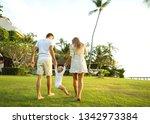 family walk in the park  happy...   Shutterstock . vector #1342973384