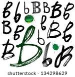vector alphabet. hand drawn...   Shutterstock .eps vector #134298629