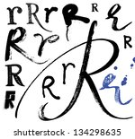 Vector Alphabet. Hand Drawn...