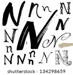 vector alphabet. hand drawn...   Shutterstock .eps vector #134298659