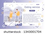 landing page of dating service. ... | Shutterstock .eps vector #1343001704