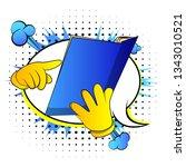 vector cartoon hand holding and ... | Shutterstock .eps vector #1343010521