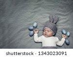portrait of an adorable newborn ...   Shutterstock . vector #1343023091