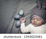 closeup portrait of a cute...   Shutterstock . vector #1343023481