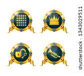 set of awards  badges  medals...